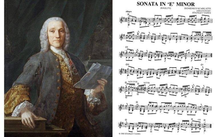 scarlatti painting and sonata e minor classical guitar music