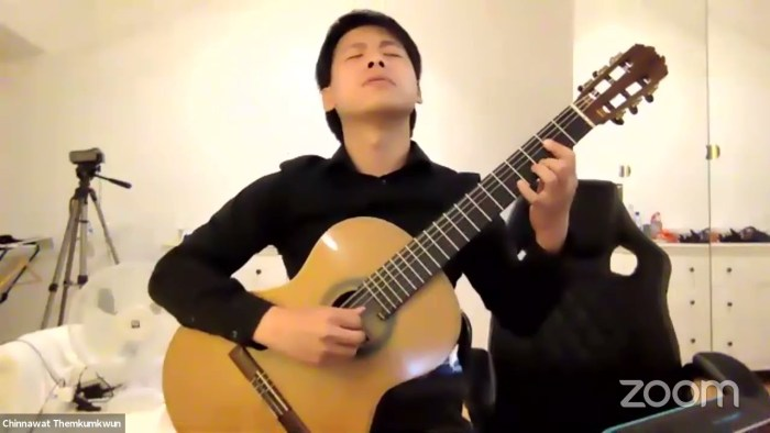 Chinnawat Themkumkwun, of Thailand, performing on classical guitar for the 2021 the International Concert Artist Competition (ICAC)