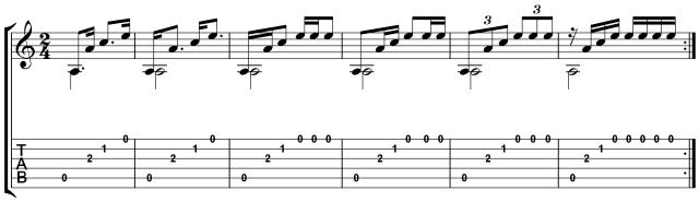Carcassi No. 2 5 rhythmic patterns
