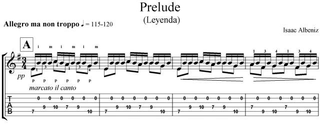 Leyenda Albeniz classical guitar lesson