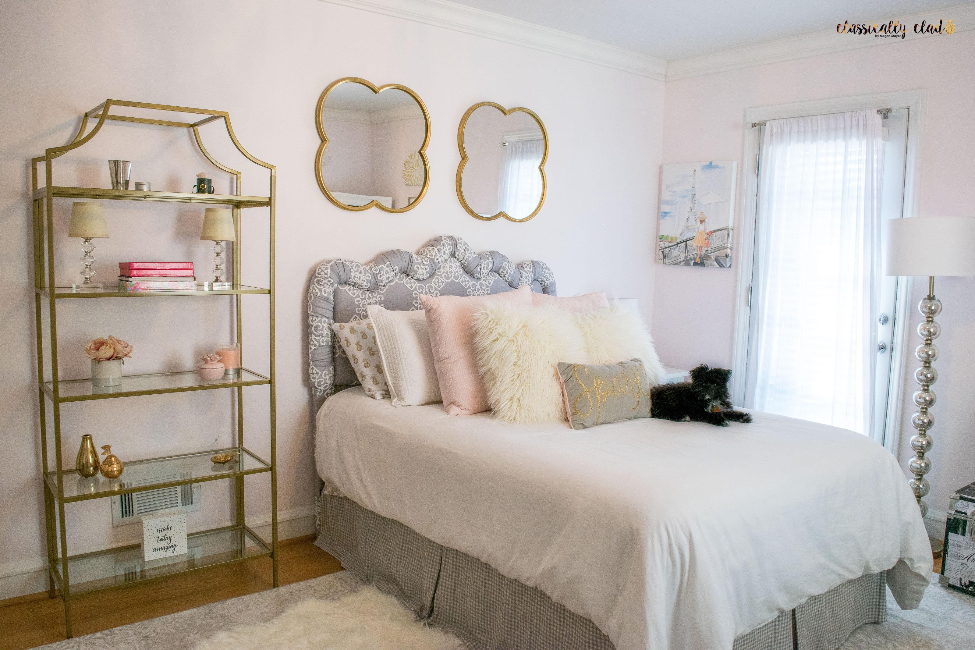 Blush Pink Bedroom Remodel by Megan