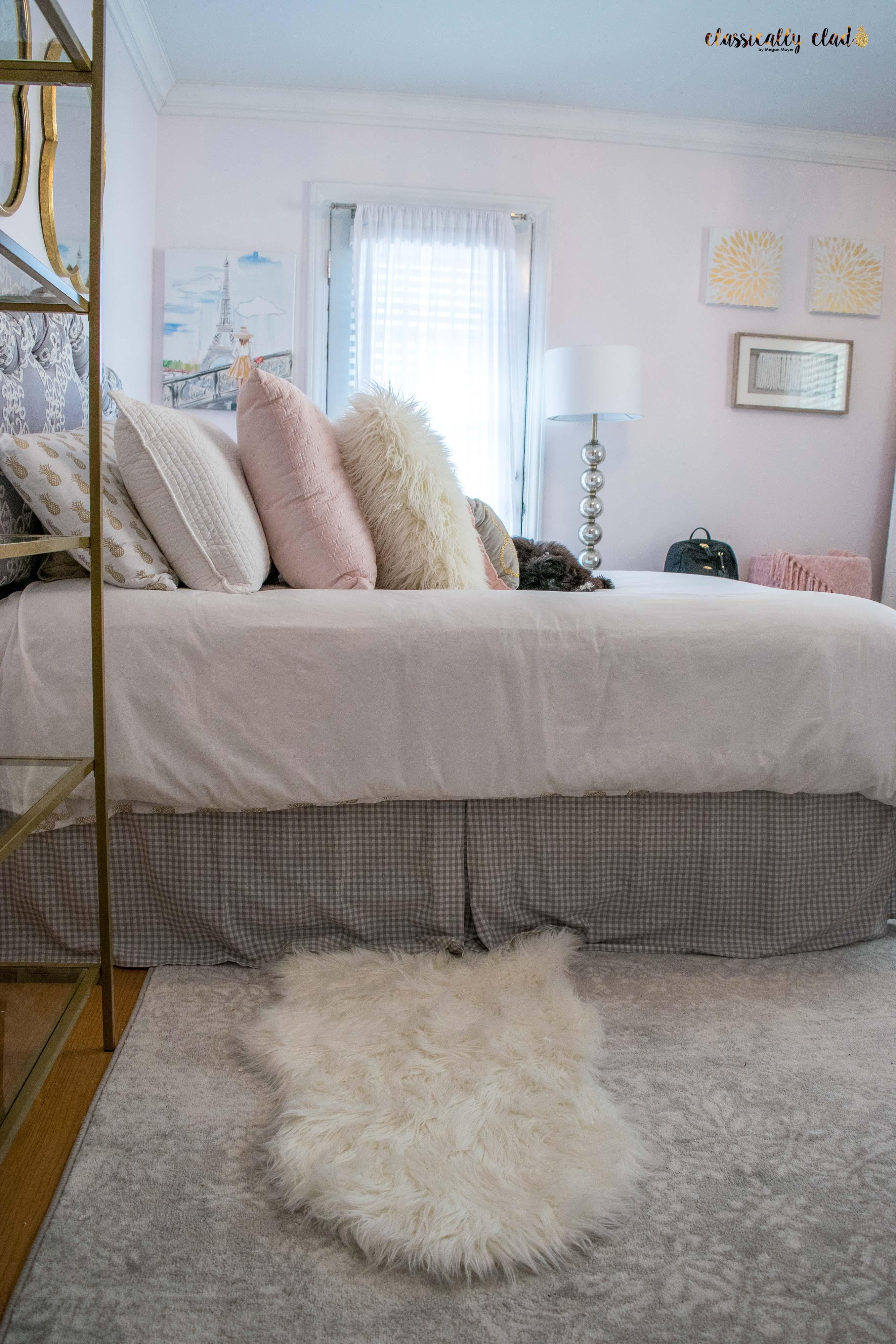 Blush Pink Bedroom Remodel