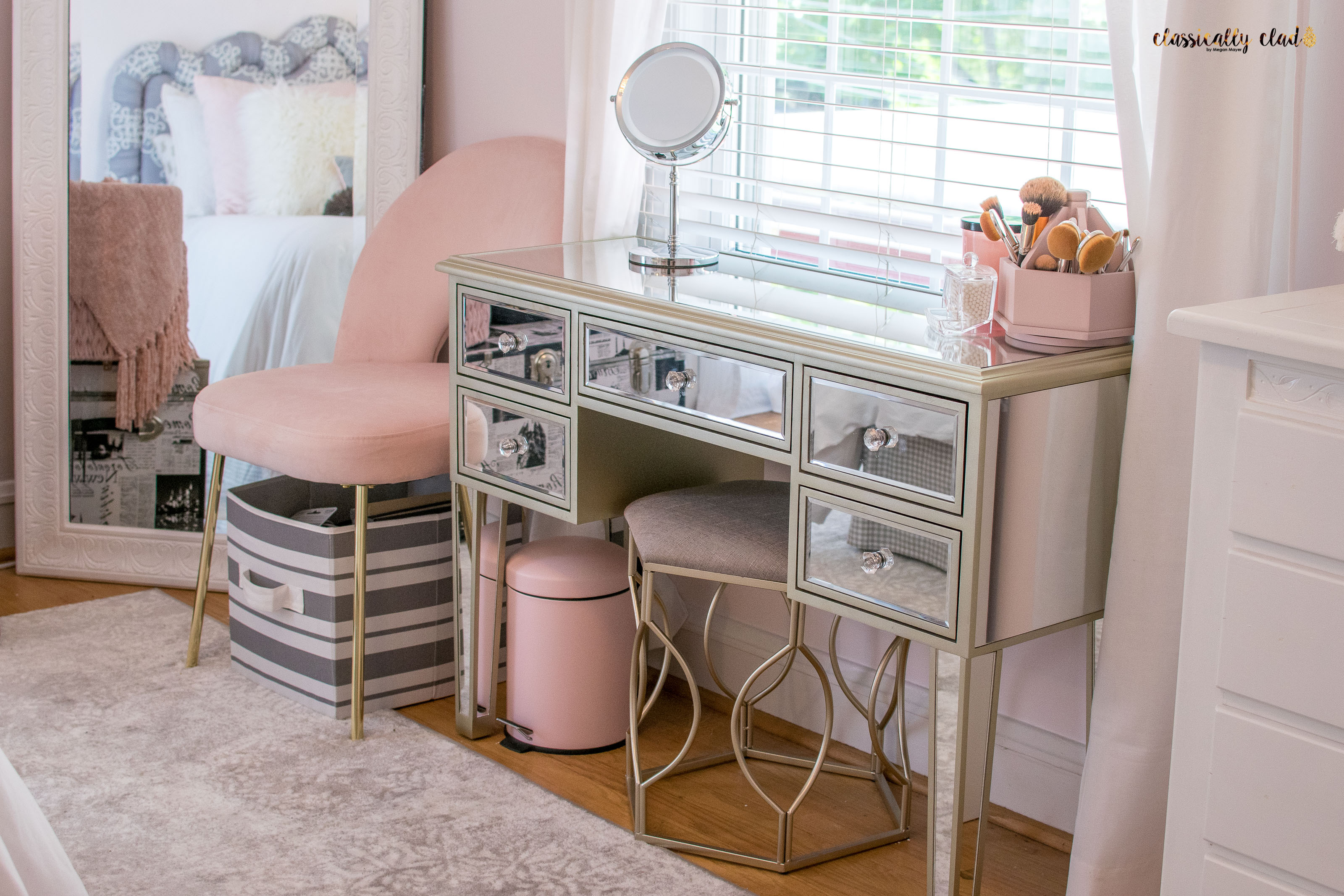 My Post-College Bedroom Remodel | Blush Pink