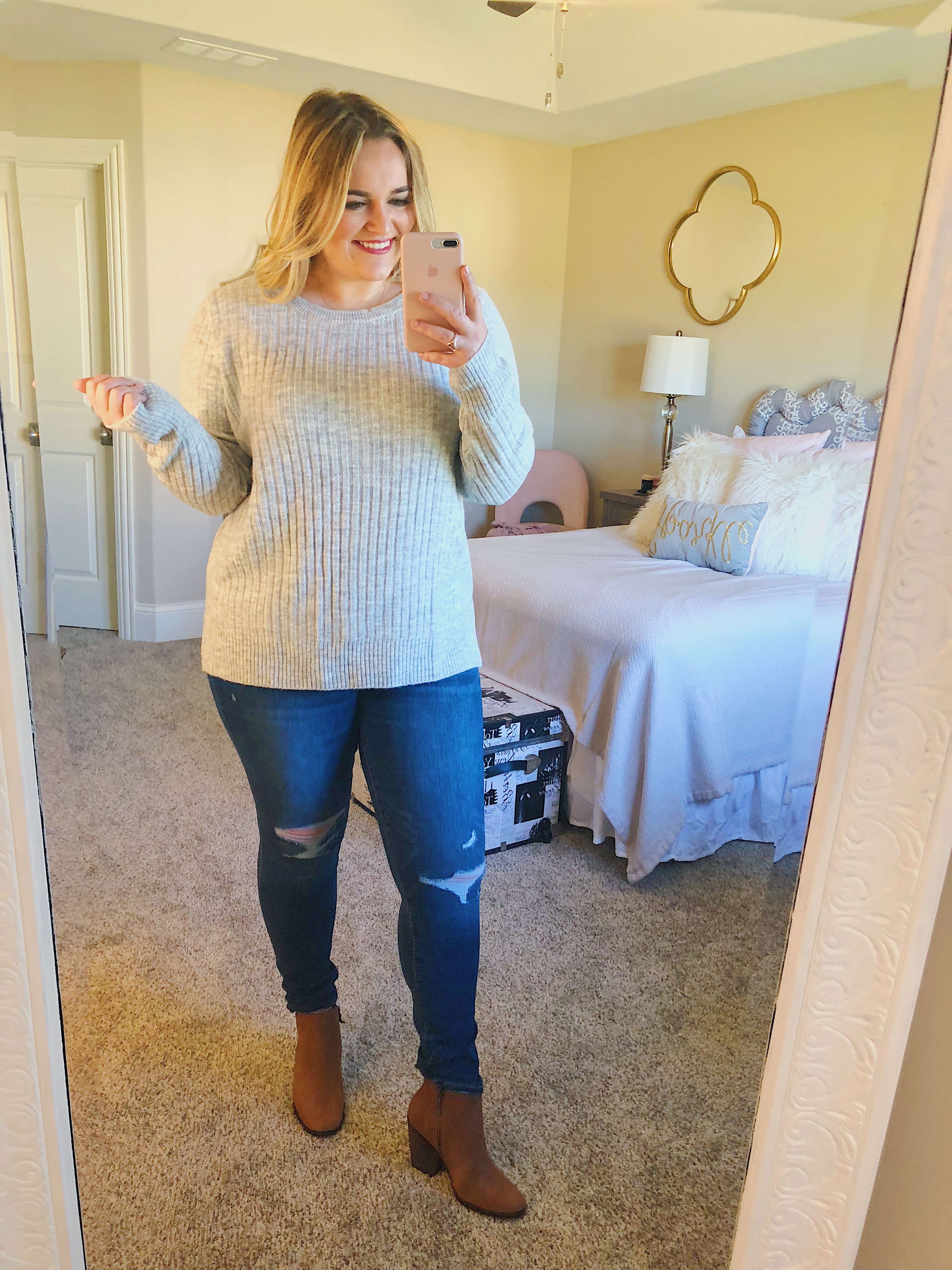 Layering Sweater Fall Sale Old Navy Grey