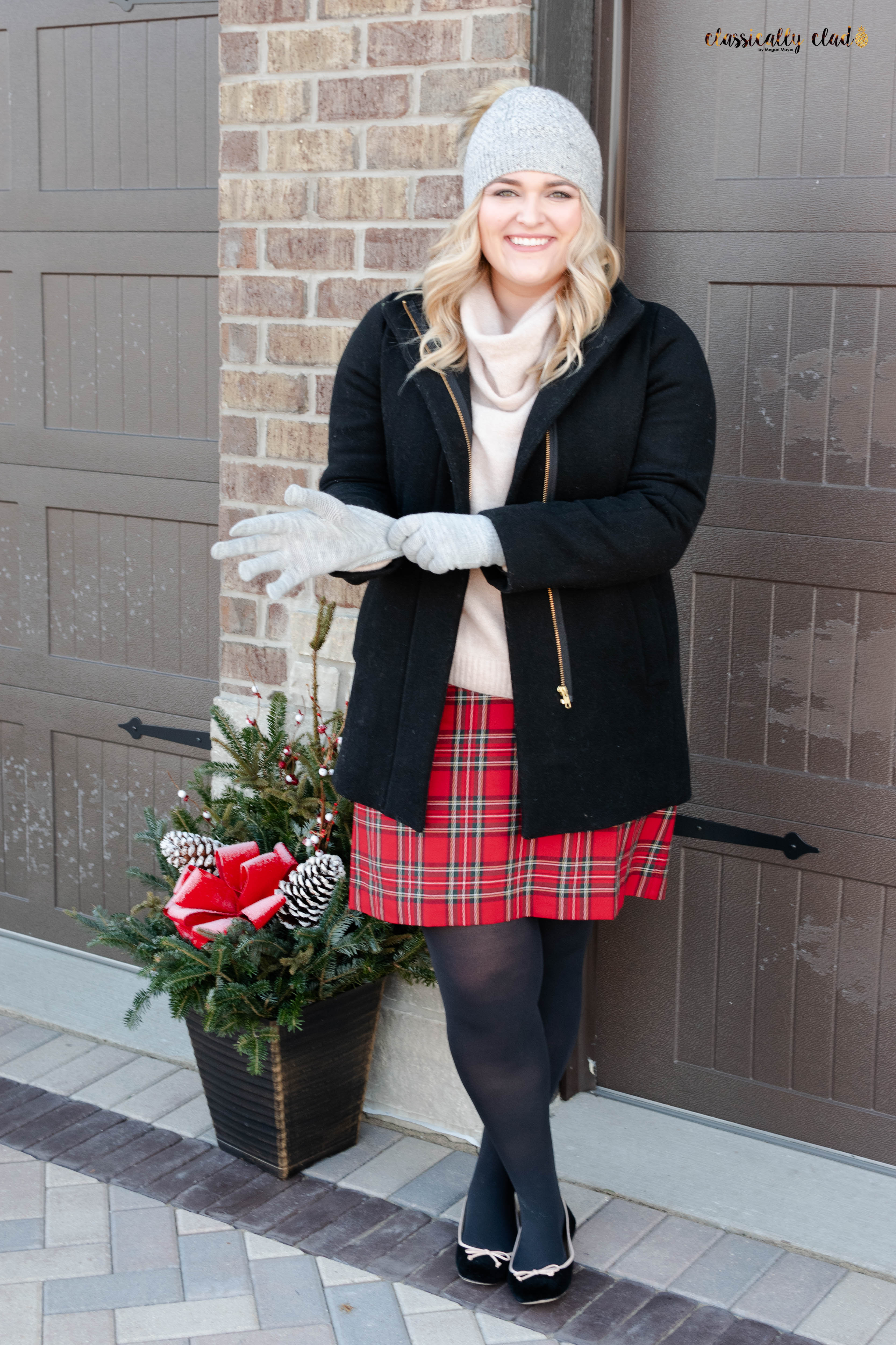 How To Style A Plaid Skirt-10