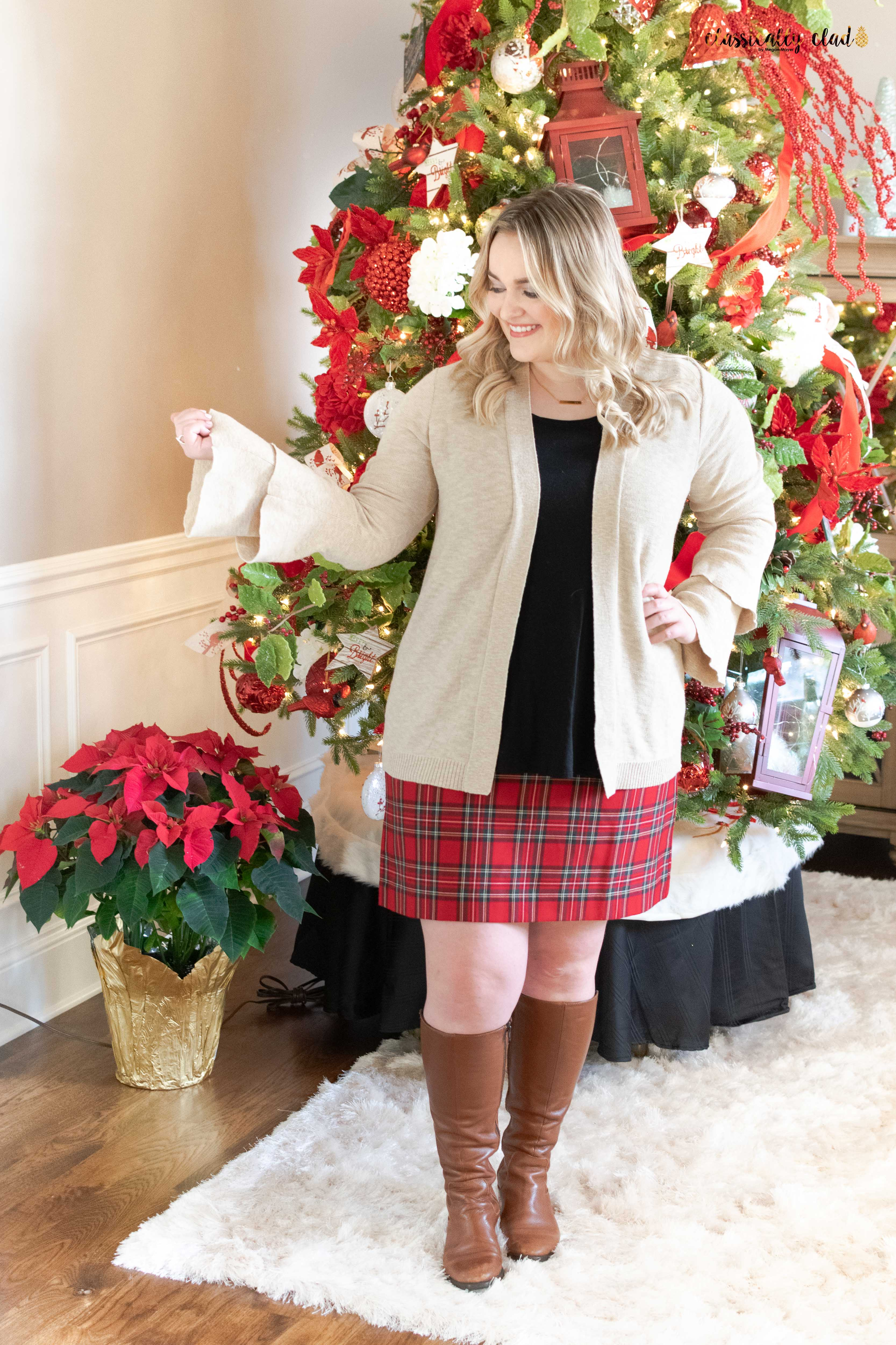 How To Style A Plaid Skirt-7