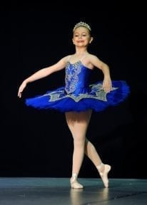 Classical Ballet Tutu - non stretch tutu - royal blue and gold