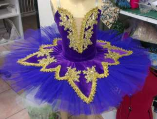 Classical Ballet Tutu - stretch tutu - purple and gold