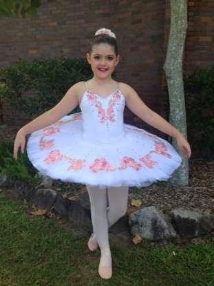 Classical Ballet tutu - stretch tutu - white and pin