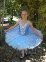 Classical Ballet Tutu - non Stretch - cornflower blue and silver