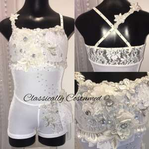 White Contemporary/Lyrical Dance Costume