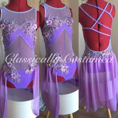 lavender lyrical dance costume, soloist.