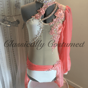 Cream and Apricot Lyrical Dance Costume