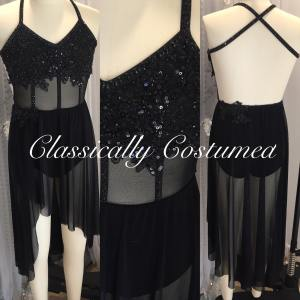 Black Lyrical Contemporary Costume