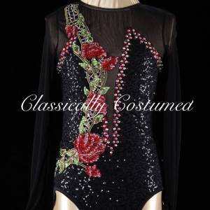 Black Dance Costume Leotard