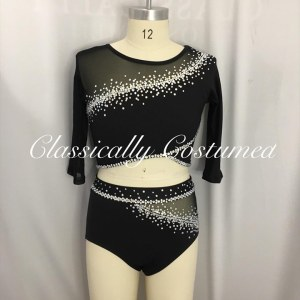 Black and Silver Dance Costume