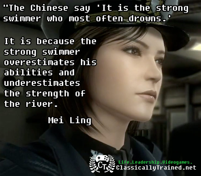 mei ling quotes metal gear solid life lessons from video games