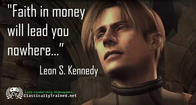video games quotes resident evil 4 leon kennedy