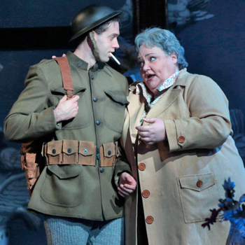 Tobias Greenhalgh as Doughboy, with Blythe.