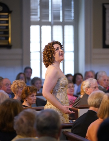 Jessica Ann Best sang a number from 'Evita' in the 'Arias and Encores' program. (Elizabeth Leitzell)
