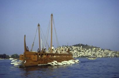 Replica of Athenian ships