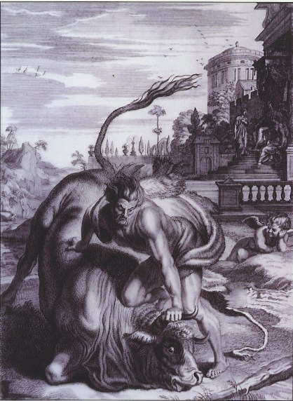 Heracles with the bull