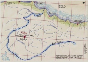 Map of Halys River - Thanks to https://www.cartographyunchained.com/cghs1.html