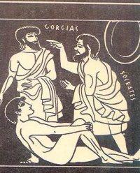 Illustration of Socrates and Gorgias