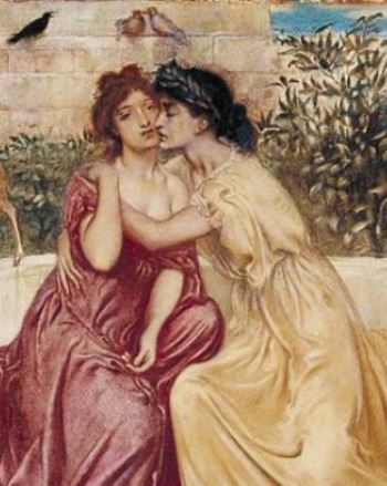Sappho with woman