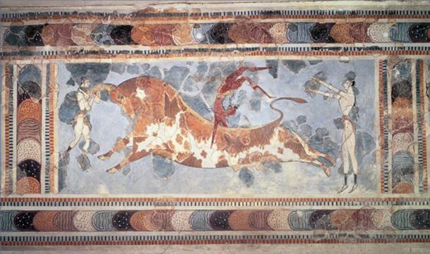 Famous Bull leaping fresco