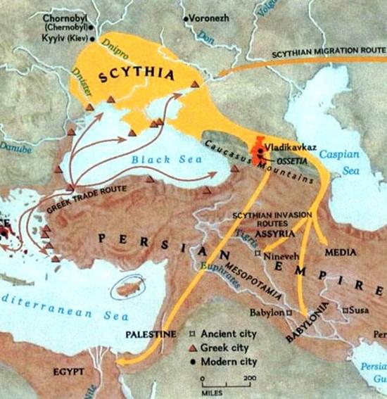 Map of Scythia