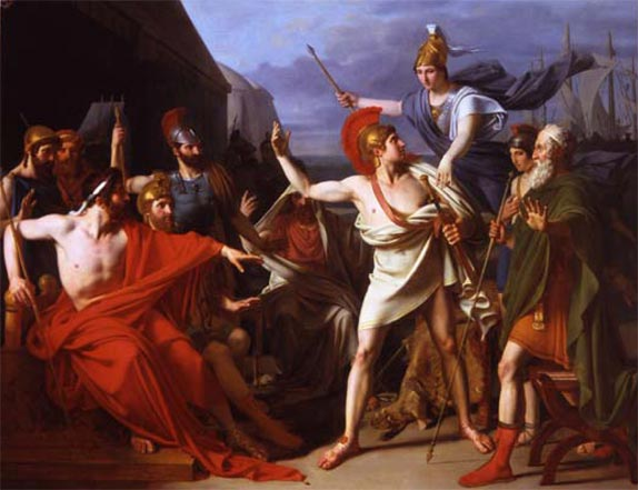 Painting of the Gods in the Iliad