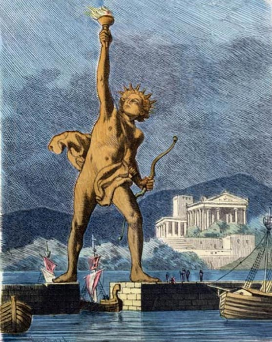 Illustration of the Colossus of Rhodes