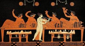 Vase illustration of Greek drinking