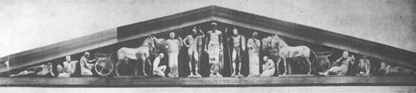 Sculpture of pediments