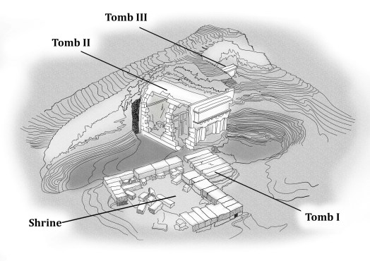 Model of the shrine and tombs