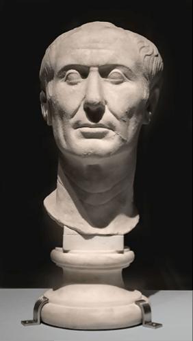 A bust of Julius Cesar