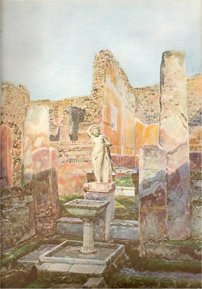 A villa unearthed in Pompeii