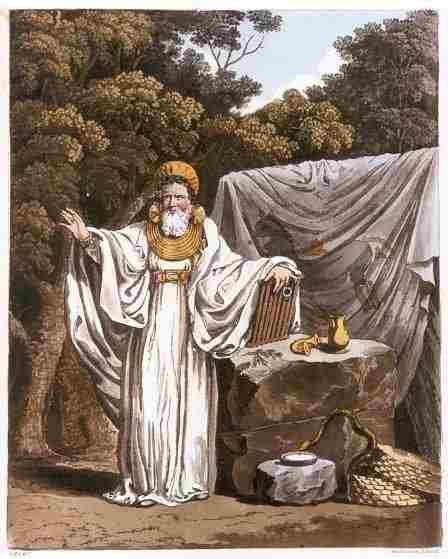 19th century reimaging of a Druid