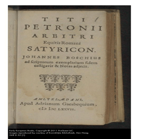 Page from the Satyricon