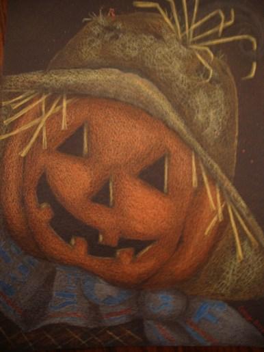 Scarecrow Colored Pencil Design with bonus necklace