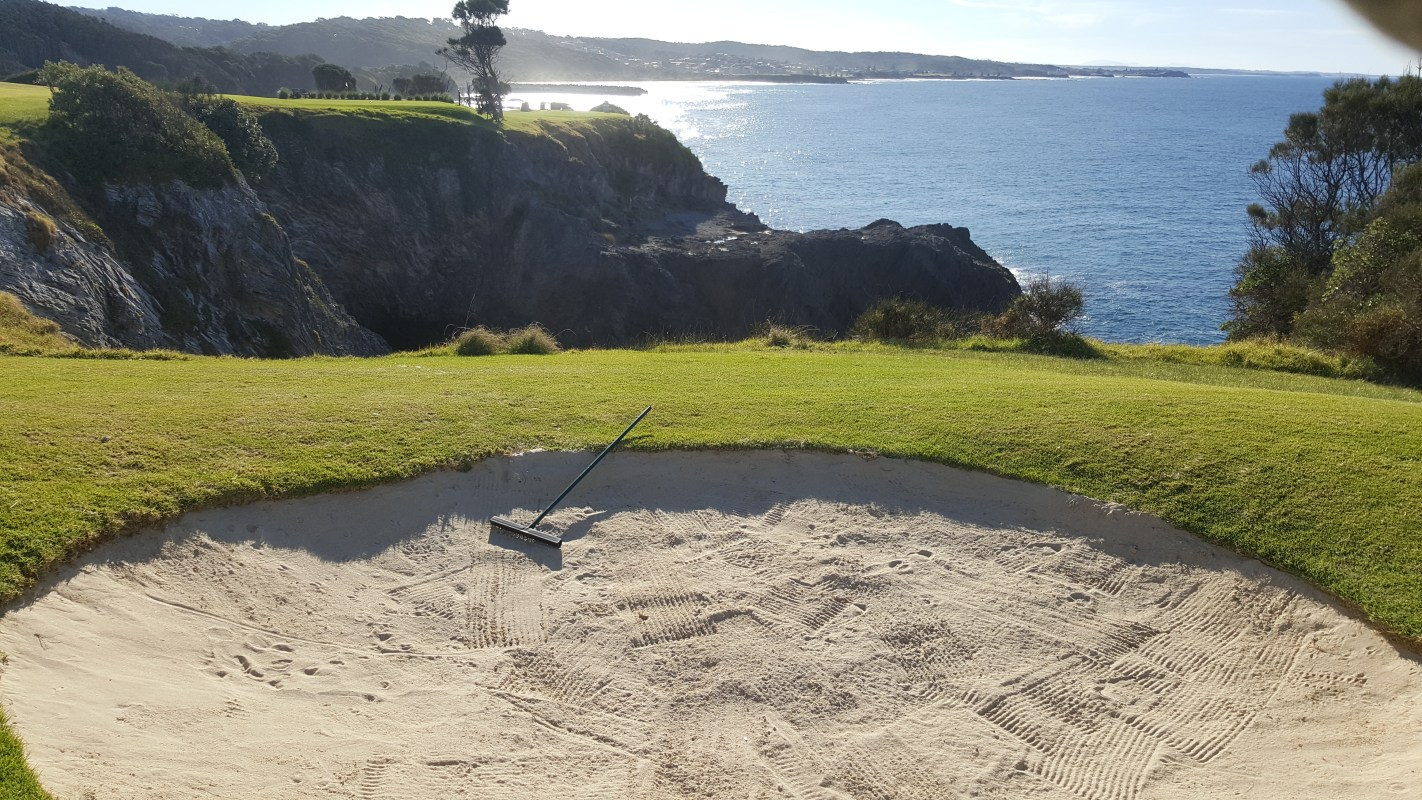 Back to the tee 3rd Hole Narooma
