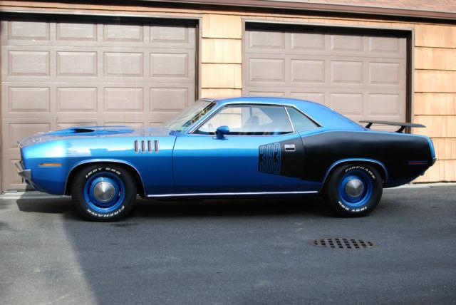 1971 Plymouth Cuda Real Bs23 B5 Blue A C P S P B For