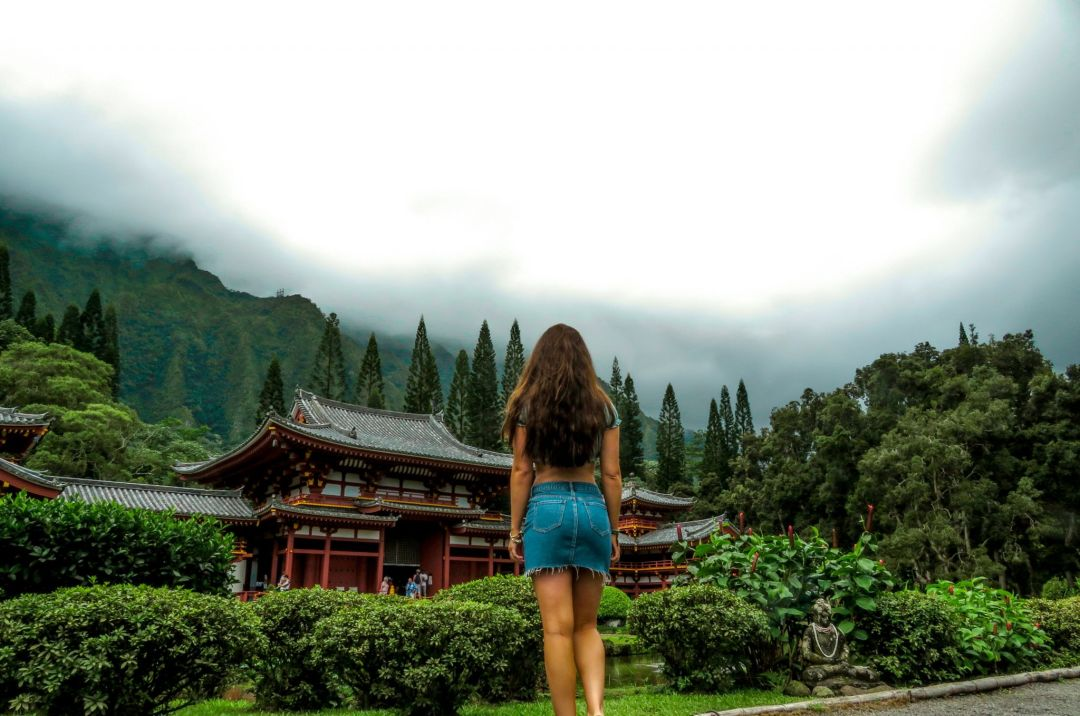 Visit to the Byodo-In Temple, Oahu