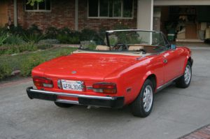 1985 Fiat Pininfarina Spider Azzura convertible California