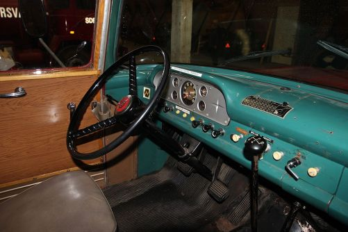 Hard to Fix Interior Damage: 1958 F600 Fire Truck Seat