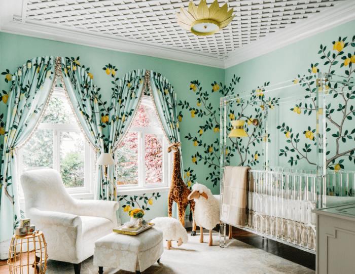 Lemon and Aqua Neutral Gender Nursery