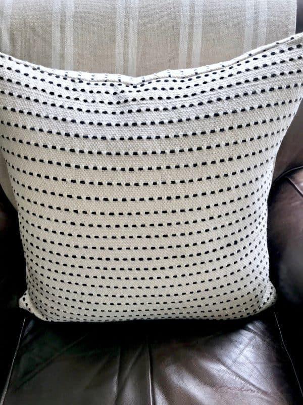 reasonably priced woven cotton pillows
