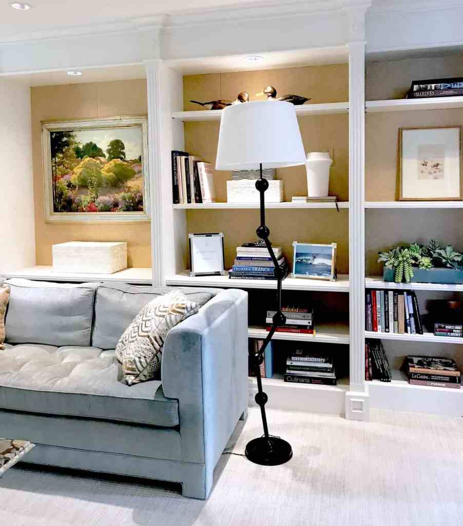 Family Room Shelves How to Display items
