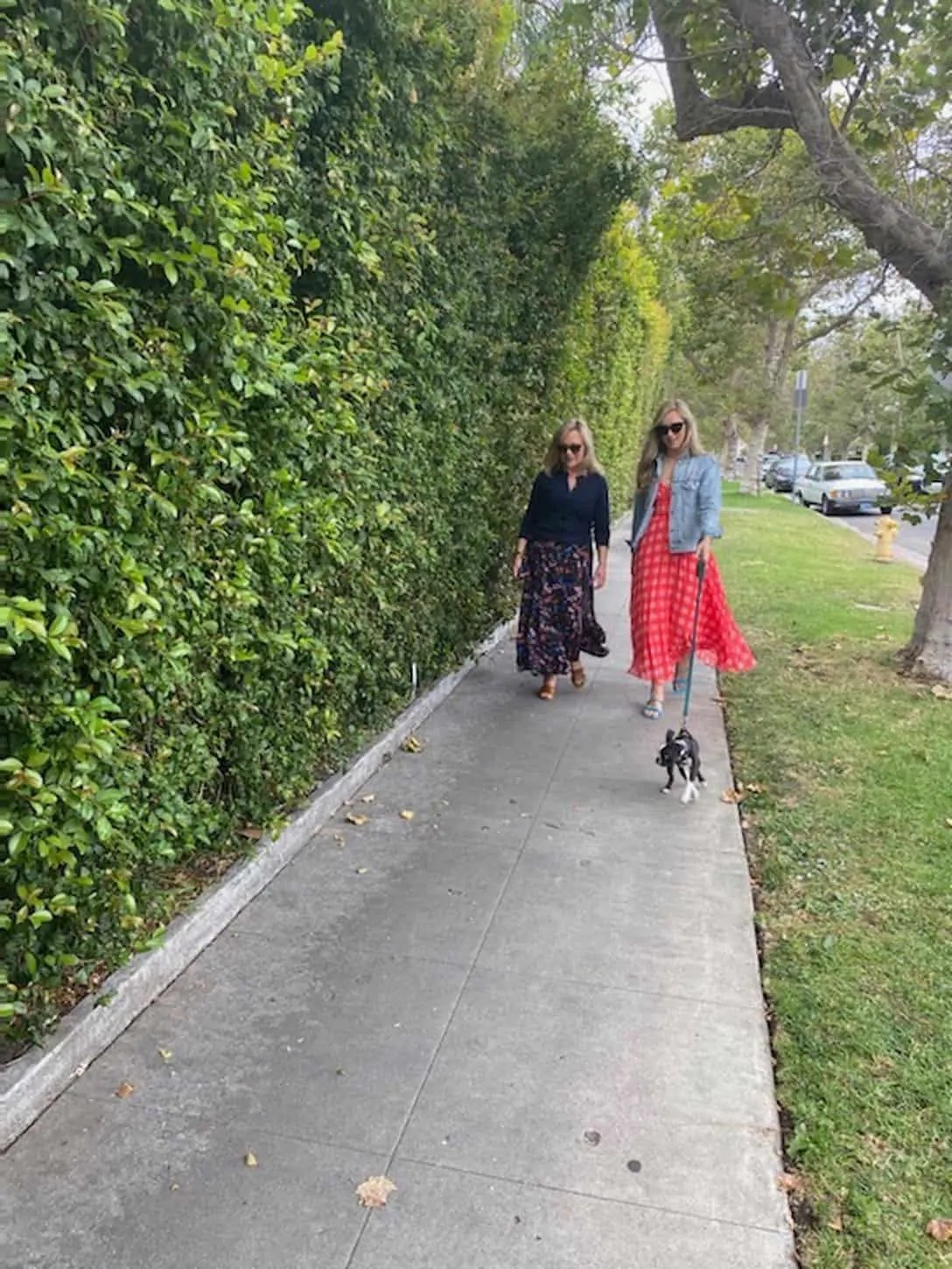 Mother Daughter long skirts. Fashion Blogger Mary Ann Pickett